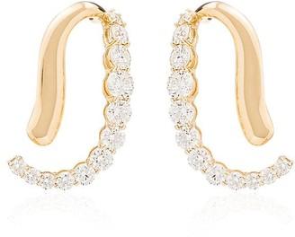 Melissa Kaye Aria Skye 18kt yellow gold diamond earrings
