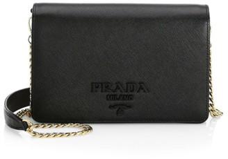 Prada Monochrome Leather Crossbody Bag