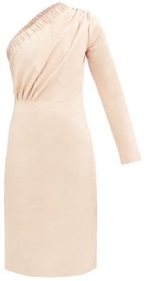 Dodo Bar Or Gorgiee Asymmetric One-shoulder Leather Dress - Light Pink