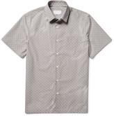 Prada Slim-Fit Star-Print Cotton-Poplin Shirt