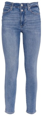 Paige Double-Button Hoxton Skinny Jeans