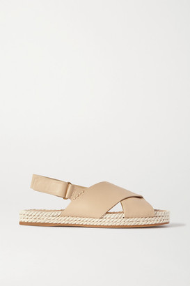 Vince Essen Leather Espadrille Sandals - Ecru