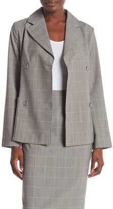 Jarbo Windowpane Wool Blend Patch Pocket Blazer