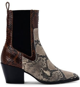 Dolce Vita Sabern Snakeskin-Embossed Leather Chelsea Boots