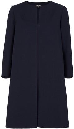 Paule Ka Navy textured cotton-blend coat