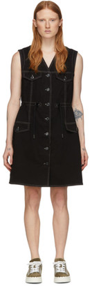 See by Chloe Black Denim Fitted Dress