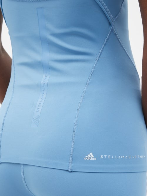 Thumbnail for your product : adidas by Stella McCartney Truepurpose Recycled Fibre-blend Tank Top - Blue