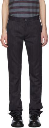 Woolmark Daniel W. Fletcher Navy Split Hem Trousers