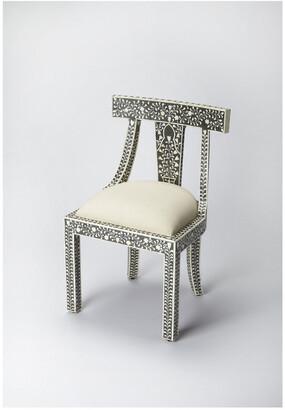 Butler Victorian Garden Black Bone Inlay Accent Chair