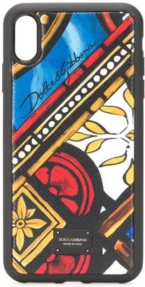 Dolce & Gabbana tile print iPhone XS Max case