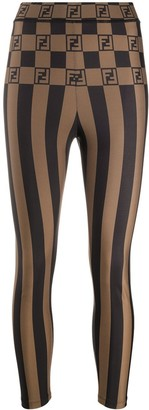Fendi Logo Stripe Leggings