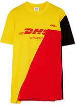 Vetements Printed Cotton-piqué T-shirt - Yellow