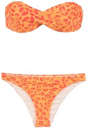 AMIR SLAMA Printed Bandeau Bikini Set