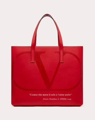 Valentino Garavani Garavani Love Lab E/w Shopper Bag Women Pure Red/optic White Calfskin 100% OneSize