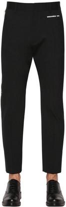 DSQUARED2 16.5cm Cigarette Fit Stretch Wool Pants