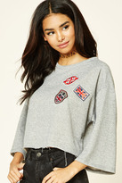 Forever 21 FOREVER 21+ London Patch Graphic Pullover