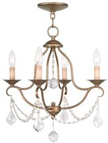 Livex Lighting Chesterfield 4-Light Candle Style Empire Chandelier Finish: Antique Gold Leaf