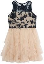 Rare Editions Lace & Ruffled Mesh Dress, Big Girls (7-16)