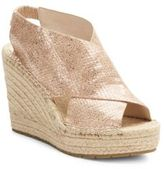 Kenneth Cole Ona Metallic Leather Espadrille Wedge Sandals