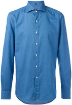 Fay slim-fit denim shirt - men - Cotton - 43