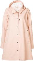Stutterheim flare hooded raincoat - women - Cotton/Polyester/PVC - M