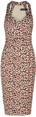 Lavish Alice Leopard-print satin midi dress