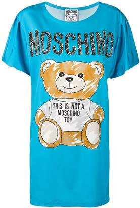 Moschino teddy bear print T-shirt dress