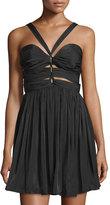 The Jetset Diaries Short Lived Ruched Halter Dress, Black