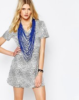 Eleven Paris Nazir Crackle Print Dress