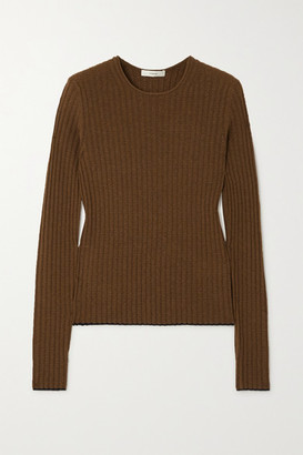 Vince Ribbed Cashmere Sweater - Army green