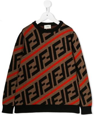Fendi Kids FF motif jumper