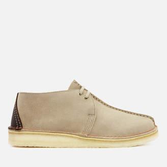 Clarks Men's Desert Trek Suede Shoes - Sand