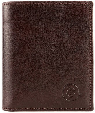 Maxwell Scott Bags Maxwell Scott Leather Wallet With Coin Pouch - Rocca Brown