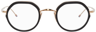 Thom Browne Gold and Black TB-911 Glasses