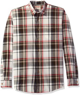 Wrangler Authentics Men's Long Sleeve Premium Plaid Shirt