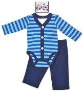 Vitamins Baby Baby Boy Faux-Cardigan Bodysuit, Pants & Bowtie Set