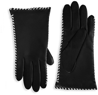 Saks Fifth Avenue Whipstitch Cashmere-Lined Leather Gloves