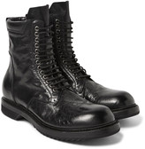 Rick Owens - Distressed Leather Combat Boots