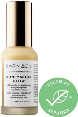 Farmacy HONEYMOON GLOW AHA Resurfacing Night Serum with Hydrating Honey + Gentle Flower Acids