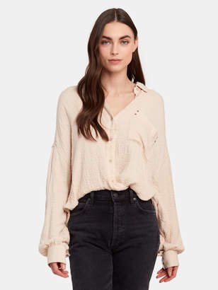 Free People Solid Hidden Valley Oversized Buttondown