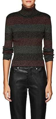 A.L.C. Women's Mariel Metallic Striped Wool-Blend Turtleneck Sweater - Black