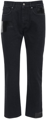 "McQ ""foam"" Slim Fit Cotton Denim Jeans"