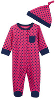 Offspring Dot Footie & Hat (Baby Girls)