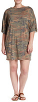 Cotton Emporium Camo Short Sleeve Dress (Plus Size)