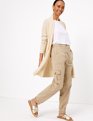 Marks and Spencer Waterfall Longline Cardigan with Linen