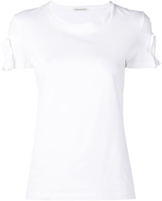 Stefano Mortari classic T-shirt with pleats on the sleeves