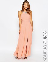 Little Mistress Petite Maxi Dress With Embellished Strap