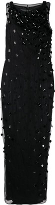 Gianfranco Ferré Pre-Owned 1990s Square Crystal Embellished Dress