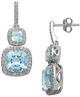 Lord & Taylor 14 Kt. White Gold and Topaz Earrings