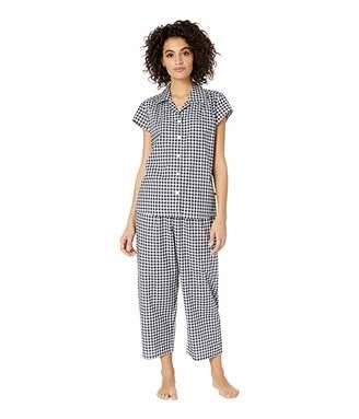 The Cat's Pajamas Gingham Capris Pajama Set